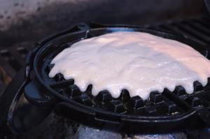Pancake-Waffel auf dem Weber Waffeleisen