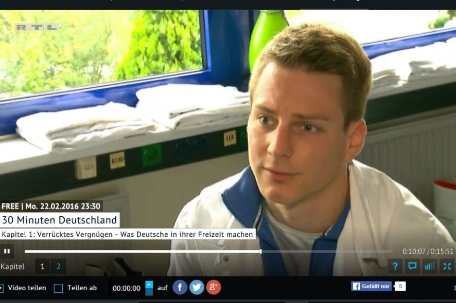 Screenshot vom RTL Interview bei 30 Minuten Deutschland