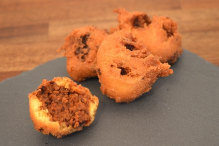 Corn Joes - Corn Dog trifft Sloppy Joe - deep fried sloppy joe balls