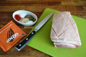 Rezept für Schoko-Krustenbraten im Backofen