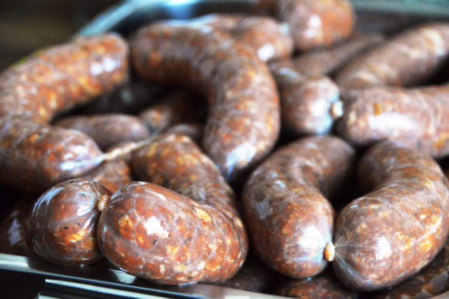Rezept für selbstgemachte Chorizo Grillwürstchen mit Dr. Pepper