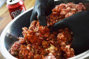 Chorizo mit Dr. Pepper - Wurstbrät herstellen
