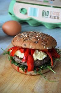 Burger mit Eiersauce - LIDL Burgerwoche