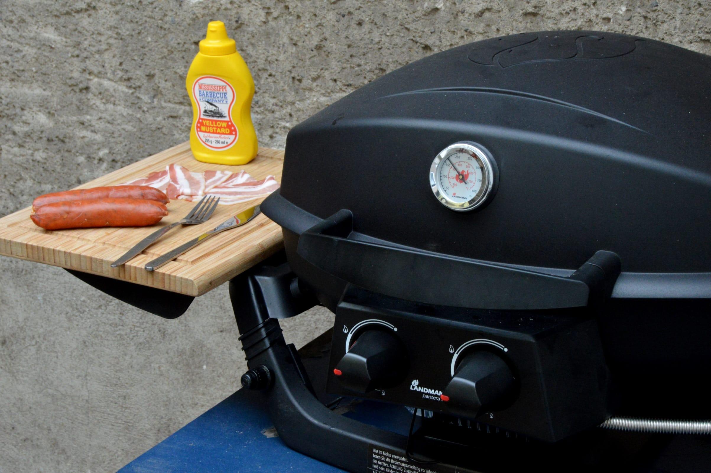 Landmann Gasgrill Rezepte : Grillen in der stadt mit dem landmann pantera bacon zum steak