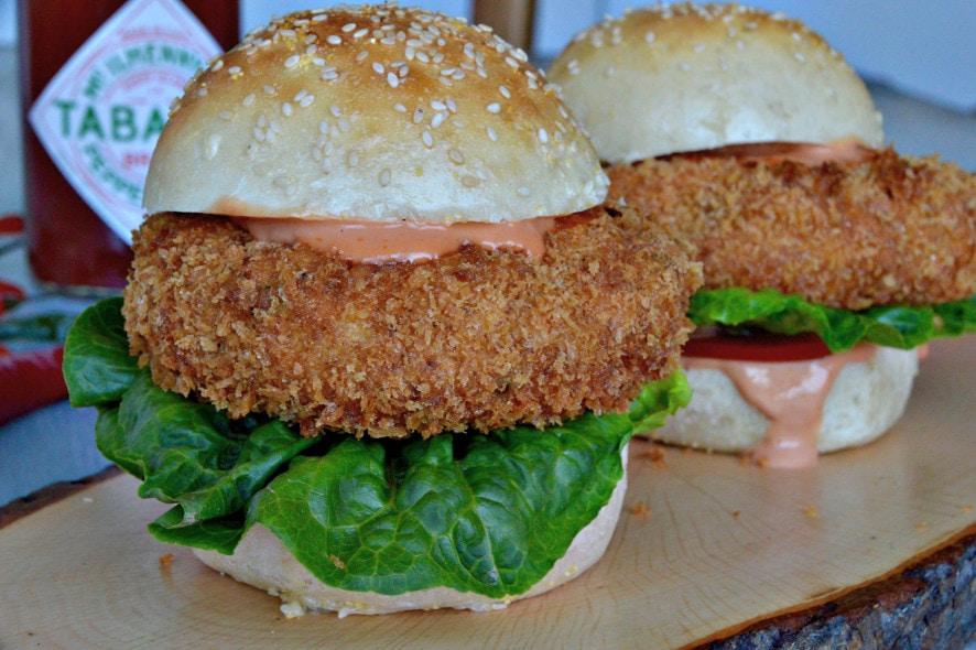Rezept für Tabasco-Scampi-Burger mit Tabasco-Gin-Cocktailsauce