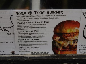Surf & Turf Burger by FishArt BBQ