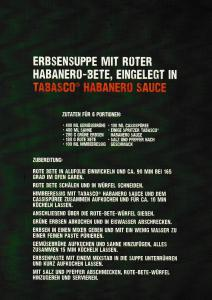 "Tabasco ""Thrill Your Food""-Rezepte der kitchen guerilla"